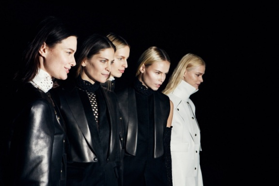 A string of sleek-haired supermodels returned to the runway for Alexander Wang.
