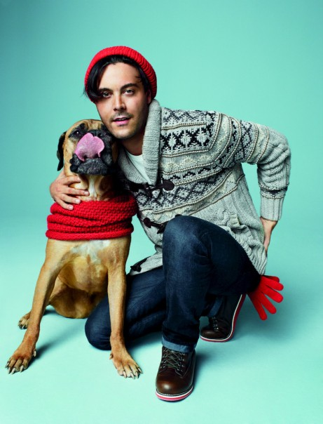 "My favorite-""puppy love"" with ""Boardwalk Empire"" star Jack Huston, and doggie Orso."