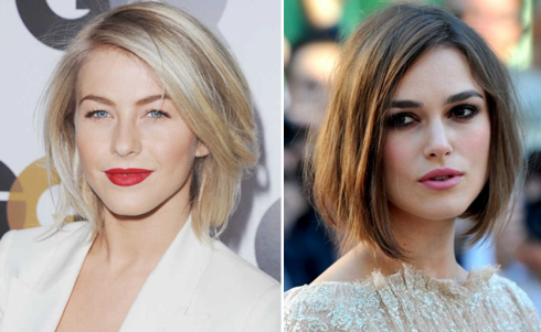 "Julianne Hough and Keira Knightley in the ""Demi-Bob."""