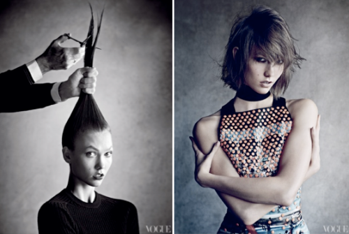 Karlie's cut for Vogue. Photographed by Patrick Demarchelier.