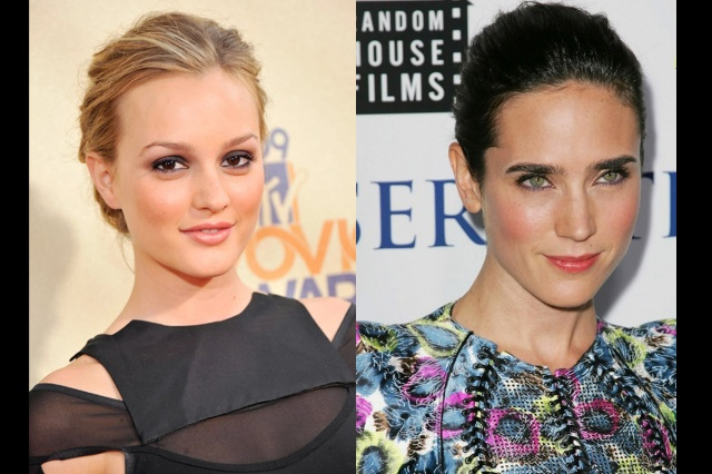 Red Carpet looks on Leighton Meester (L) and Jennifer Connelly (R).