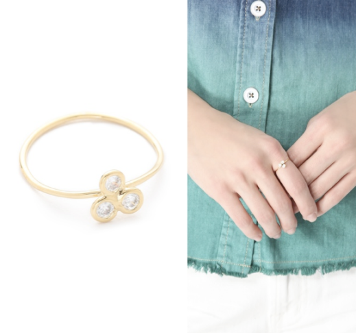 Jacquie Aiche's Cluster Trinity Waif Ring, $143.