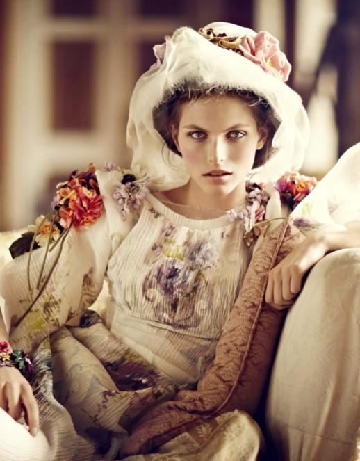 """""""Pastures New."""" Vogue UK, October 2012."""