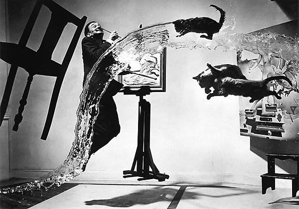"Halsman's infamous ""Dalic Atomicus,"" 1947."